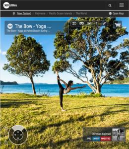 Standing Bow at Hahei Beach - Coromandel Peninsula, New Zealand - 360 VR Pano Photo