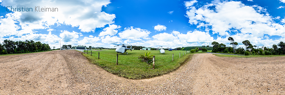 Waiheke Reeve Airport - Waiheke Island - Auckland, New Zealand - 360 VR Pano Photo