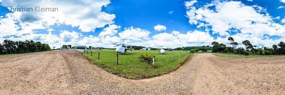 Aeródromo de Reeve - Isla Waiheke - Auckland, Nueva Zelanda - Foto Pano VR 360