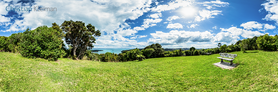 Lookout close to Carsons Road - Waiheke Island - Auckland, New Zealand - 360 VR Pano Photo