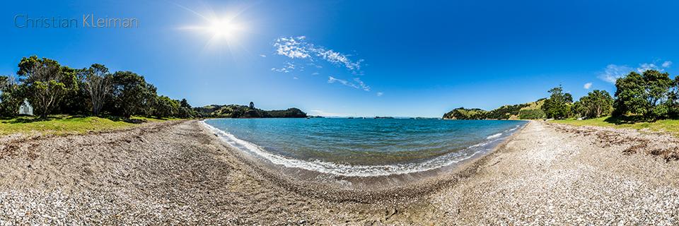 Bahía de Man O' War - Isla Waiheke - Auckland, Nueva Zelanda - Foto Pano VR 360