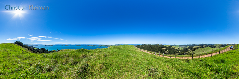 Cowes Bay Road - Waiheke Island - Auckland, New Zealand - 360 VR Pano Photo