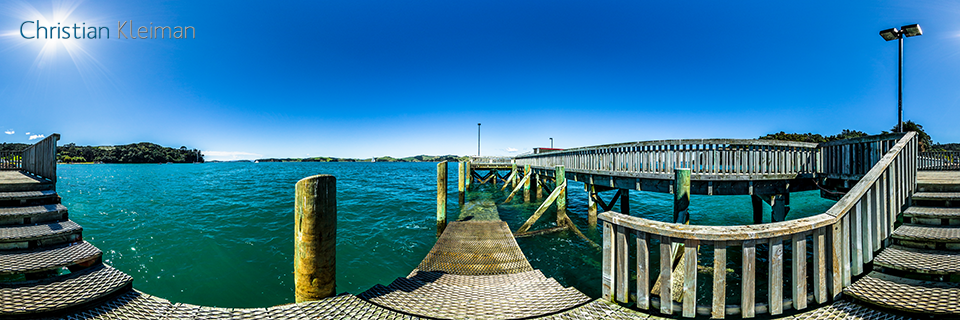 Wharf at Orapiu Bay - Waiheke Island - Auckland, New Zealand - 360 VR Pano Photo