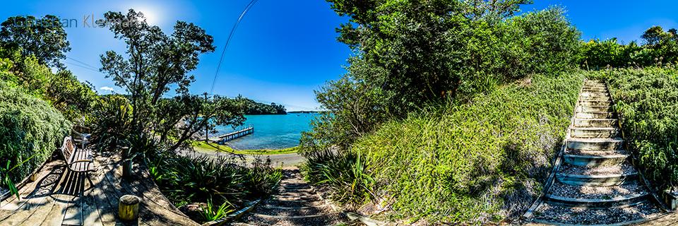 Mirador de Orapiu Bay - Isla Waiheke - Auckland, Nueva Zelanda - Foto Pano VR 360