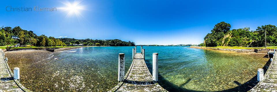 Pier at Orapiu Bay - Waiheke Island - Auckland, New Zealand - 360 VR Pano Photo