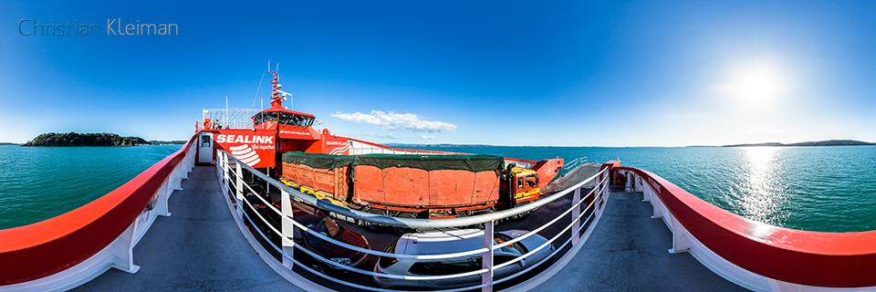 Sealink Ferry - Waiheke Island - Half Moon Bay - Auckland, Nueva Zelanda - Foto Pano VR 360