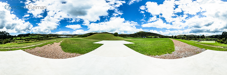 Helipad - Onetangi Sports Park - Waiheke Island - Auckland, New Zealand - 360 VR Pano Photo