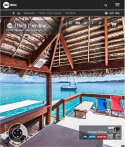 Lay Down at Cloud 9 Cocktail Bar - Fiji Islands - 360 VR Pano Photo