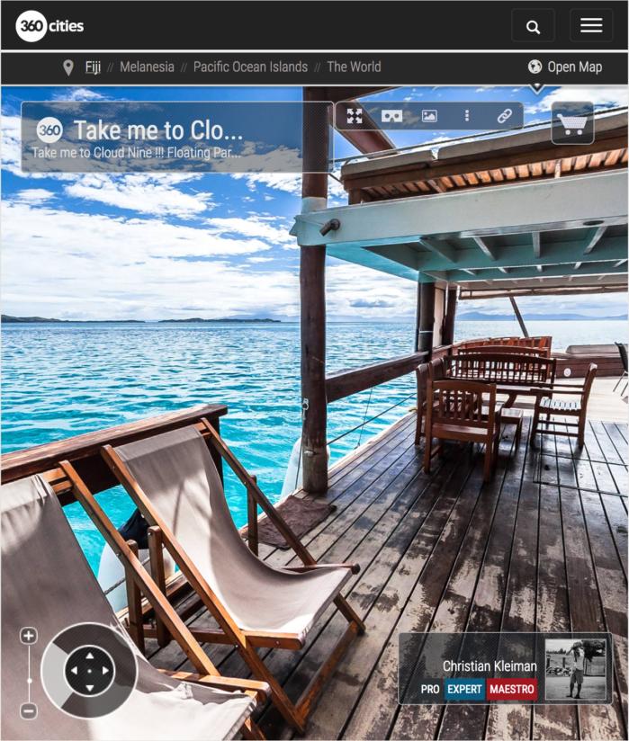 Chill Out en Cloud 9 Cocktail Bar - Islas Fiji - Foto Pano 360 VR