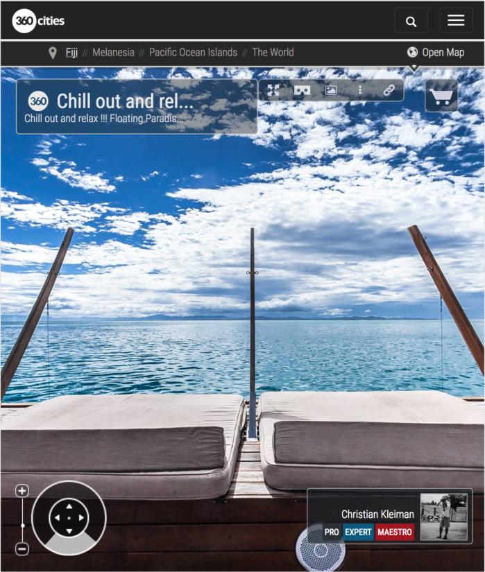 Cubierta Inferior de Cloud 9 Cocktail Bar - Islas Fiji - Foto Pano 360 VR