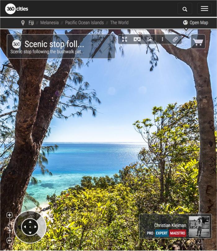 Scenic Stop - Qalito Island - Fiji Islands - 360 VR Pano Photo