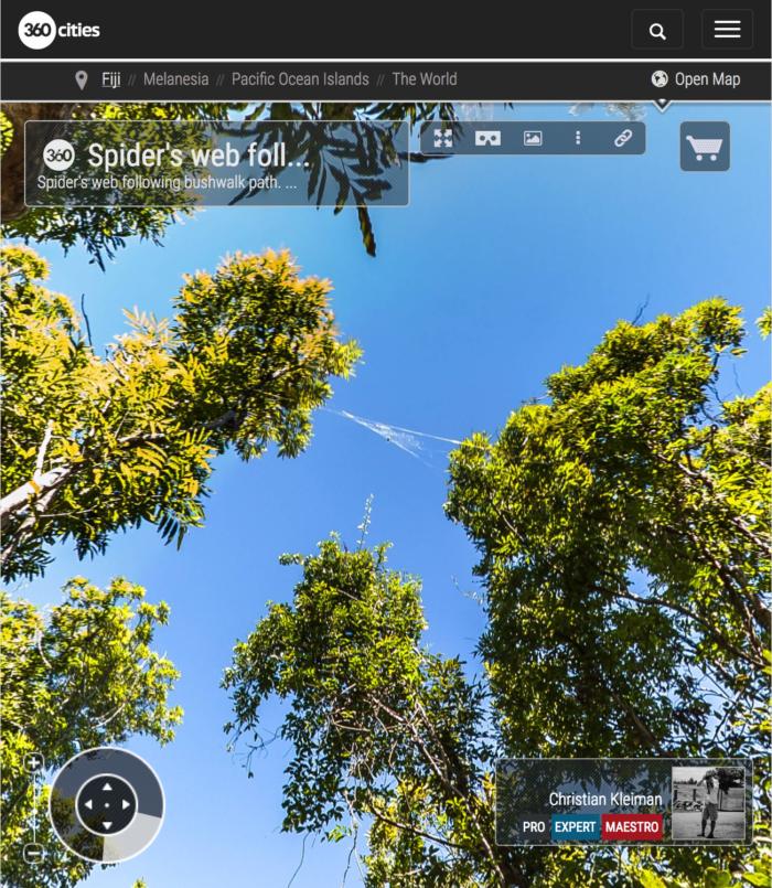 Spider Web - Qalito Island - Fiji Islands - 360 VR Pano Photo