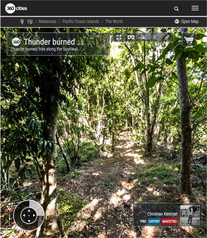Camino del Bosque - Isla Qalito - Islas Fiji - Foto Pano 360 VR