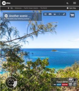 Mirador en la Cumbre de Isla Qalito - Islas Fiji - Foto Pano 360 VR