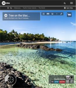 Bahía de Castaway Island Resort - Islas Fiji - Foto Pano 360 VR