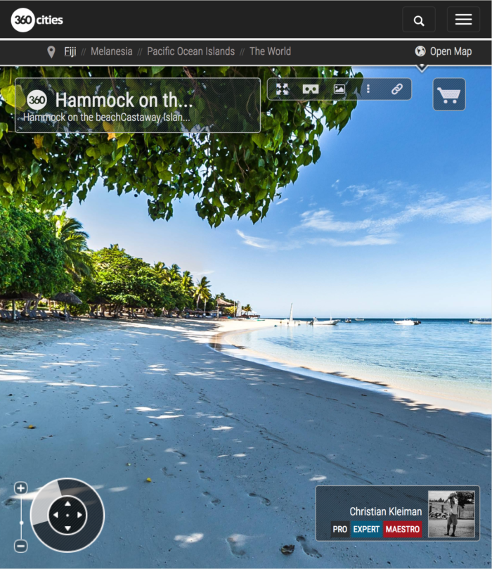 Beach of Castaway Island Resort - Fiji Islands - 360 VR Pano Photo