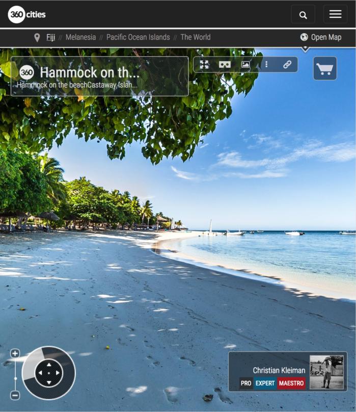 Playa de Castaway Island Resort - Islas Fiji - Foto Pano 360 VR