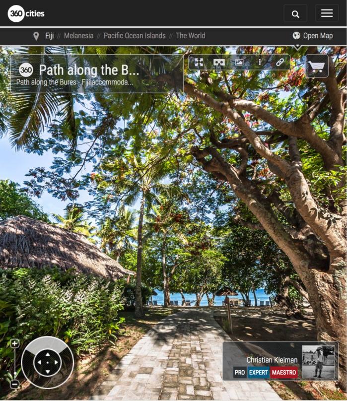 Cabañas de Castaway Island Resort - Islas Fiji - Foto Pano 360 VR