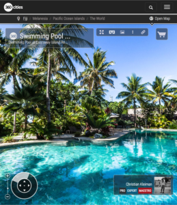 Piscina de Castaway Island Resort - Islas Fiji - Foto Pano 360 VR