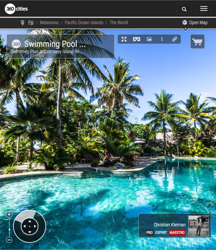 Swimming Pool at Castaway Island Resort - Fiji Islands - 360 VR Pano Photo