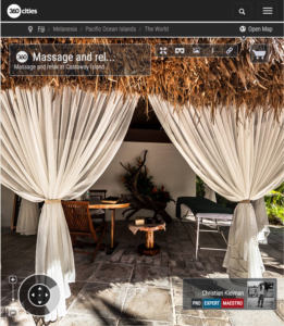 Massage at Castaway Island Resort - Fiji Islands - 360 VR Pano Photo