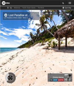 Paraíso Perdido en Isla Monu - Islas Fiji - Foto Pano 360 VR