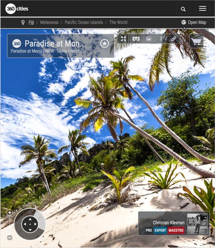 Océano Pacífico Sur - Isla Monu - Islas Fiji - Foto Pano 360 VR