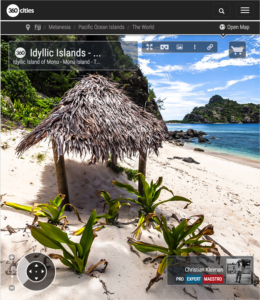 Islas Idílicas del Océano Pacífico Sur - Islas Fiji - Foto Pano 360 VR