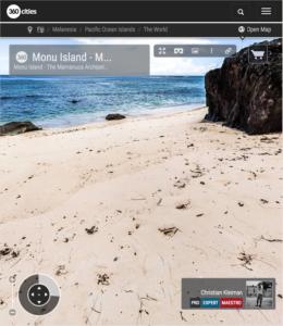 Uninhabited Island of Monu - Fiji Islands - 360 VR Pano Photo