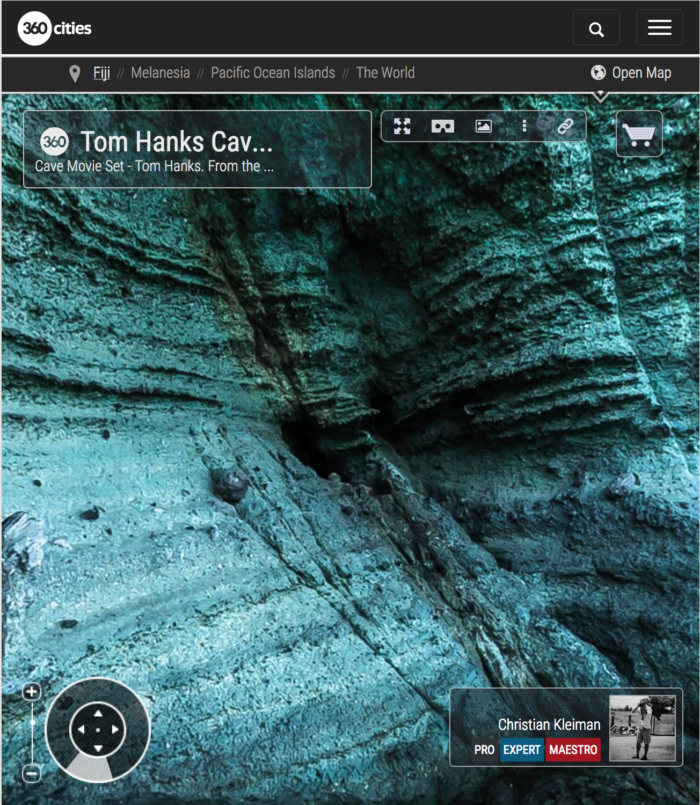 Cast Away - Tom Hanks Cave Location - Fiji Islands - 360 VR Pano Photo