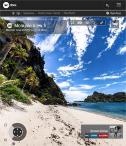 Isla Monuriki desde la Isla Monu - Islas Fiji - Foto Pano 360 VR