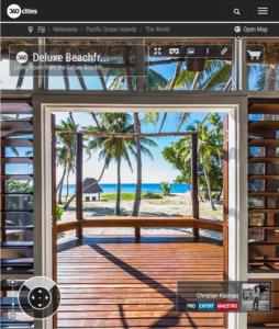 Deluxe Beachfront Bure Living Room - Yasawa Island Resort - Fiji - 360 VR Pano Photo