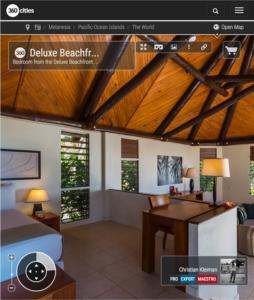 Deluxe Beachfront Bure - Dormitorio - Yasawa Island Resort - Fiji - Foto Pano 360 VR