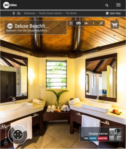 Deluxe Beachfront Bure - Cuarto de Baño - Yasawa Island Resort - Fiji - Foto Pano 360 VR