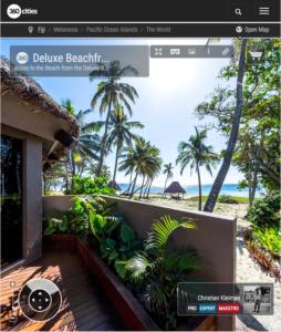 Deluxe Beachfront Bure Beach Access - Yasawa Island Resort - Fiji - 360 VR Pano Photo