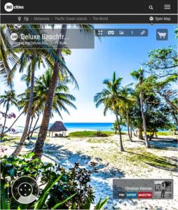 Deluxe Beachfront Bure Terrace - Yasawa Island Resort - Fiji - 360 VR Pano Photo