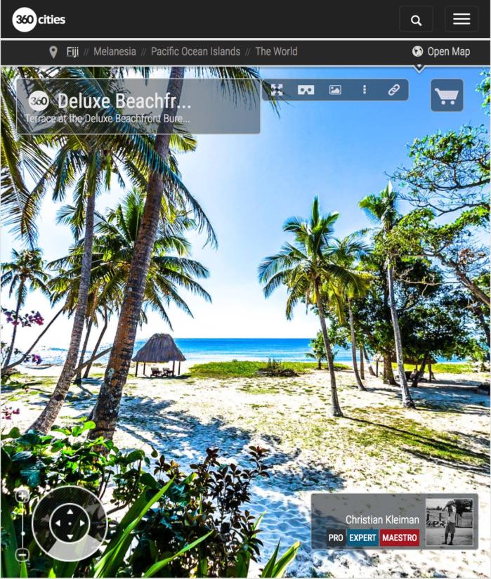 Deluxe Beachfront Bure - Terraza - Yasawa Island Resort - Fiji - Foto Pano 360 VR