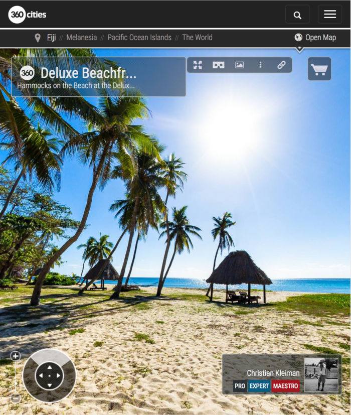 Deluxe Beachfront Bure Garden - Yasawa Island Resort - Fiji - 360 VR Pano Photo