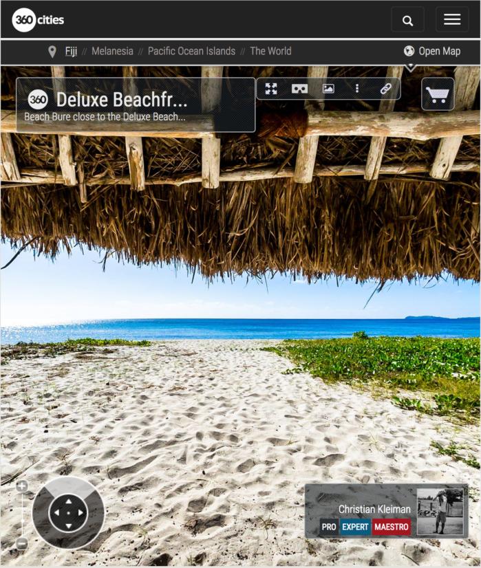 Bure de Playa - Yasawa Island Resort - Islas Fiji - Foto Pano 360 VR
