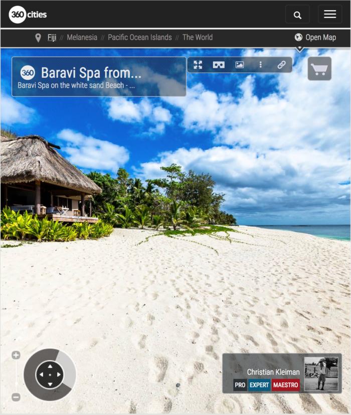 Baravi Spa from Yasawa Island Resort - Fiji Islands - 360 VR Pano Photo