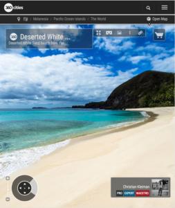 Playa Desierta en Yasawa Island Resort - Islas Fiji - Foto Pano 360 VR