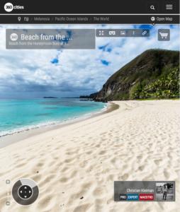 Honeymoon Beach at Yasawa Island Resort - Fiji Islands - 360 VR Pano Photo
