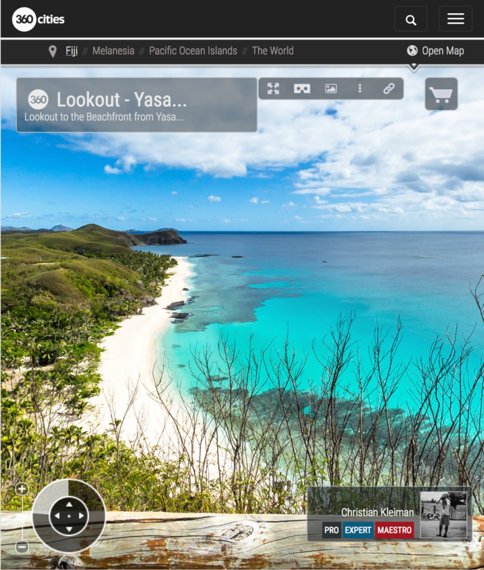 Lookout to Yasawa Island Resort - Fiji Islands - 360 VR Pano Photo