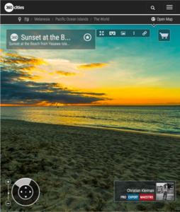 Puesta de Sol en Yasawa Island Resort - Islas Fiji - Foto Pano 360 VR