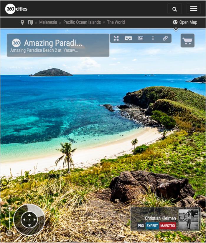 Asombrosa Paradise Beach en Yasawa - Islas Fiji - Foto Pano 360 VR