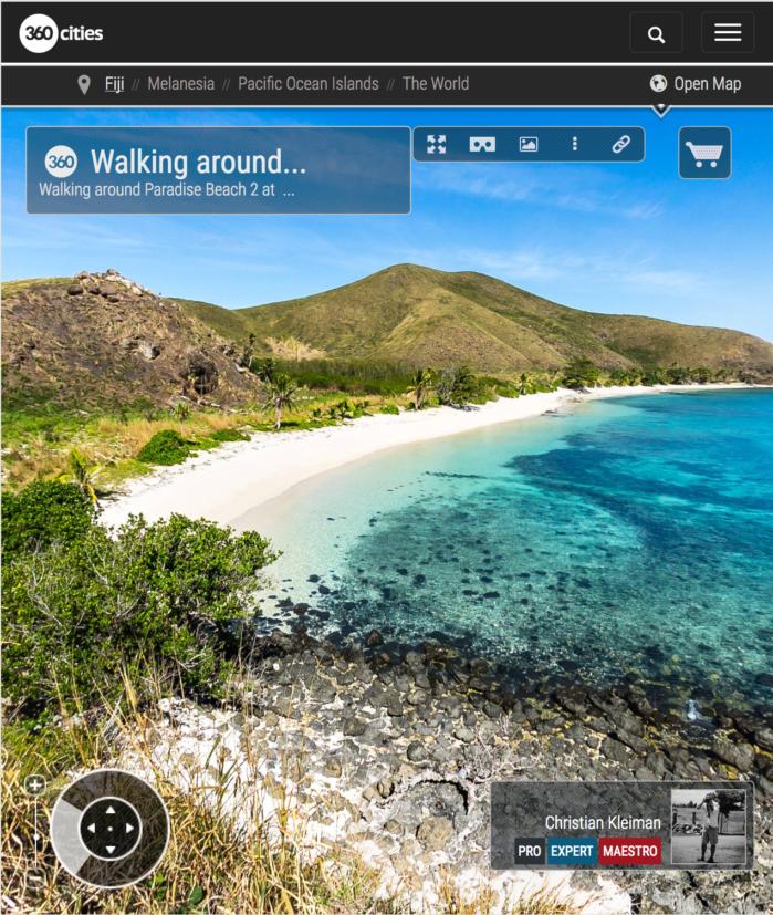Paseando por Paradise Beach en Yasawa - Islas Fiji - Foto Pano 360 VR