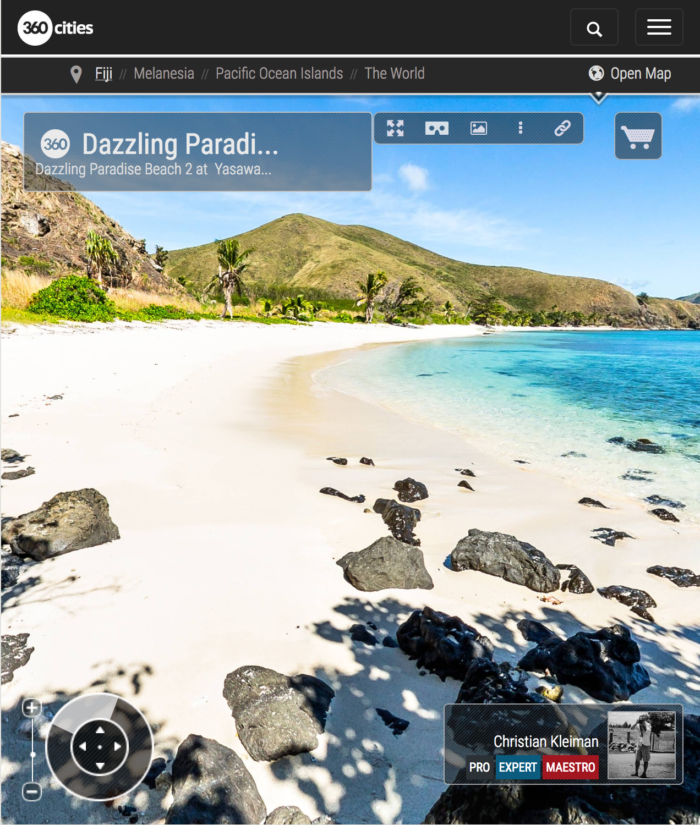 Dazzling Paradise Beach at Yasawa Island - Fiji Islands - 360 VR Pano Photo