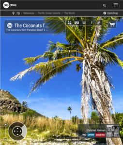 The Coconuts from Paradise Beach at Yasawa Island - Fiji Islands - 360 VR Pano Photo