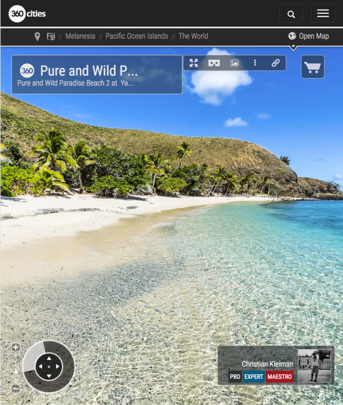 Puro y Salvaje Paradise Beach de Yasawa - Islas Fiji - Foto Pano 360 VR