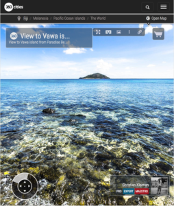 Isla de Vawa desde Paradise Beach - Yasawa - Islas Fiji - Foto Pano 360 VR